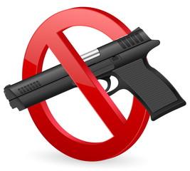 no pistol sign