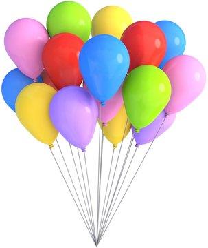 bunte luftballons freisteller