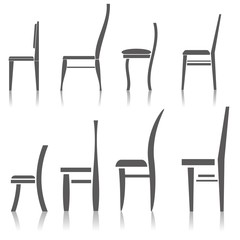 set of silhouette chairs