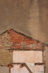 Wall Mural - Hintergrund Spuren eines Hauses