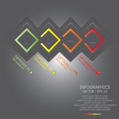 Modern Square Infographic DesignTemplate