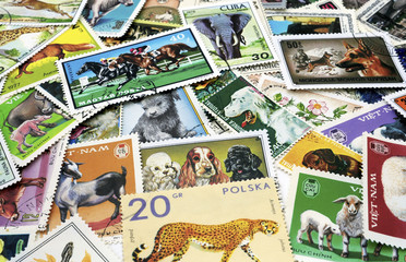 postage stamps with images of flora and fauna