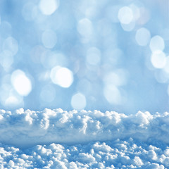 snowy background with empty space