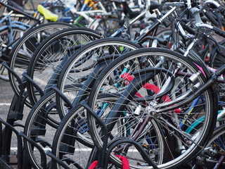 The bicycle parking