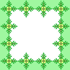 Holly berries green frame.