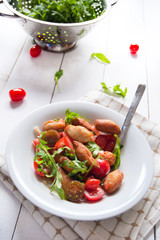 Italian angioletti fritti traditional vegetarian food