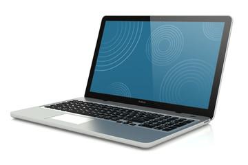 Modern silver laptop mobility.