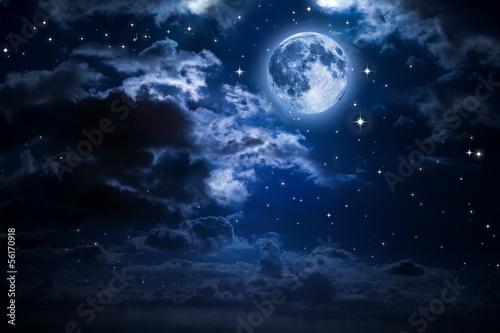 падающая звезда луна ночь небо загрузить
