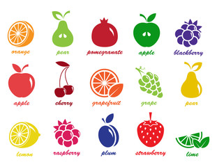 vector collection: fruit icons