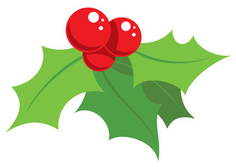 Cartoon simple mistletoe decorative ornament