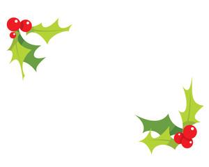 Cartoon simple mistletoes decoration ornaments