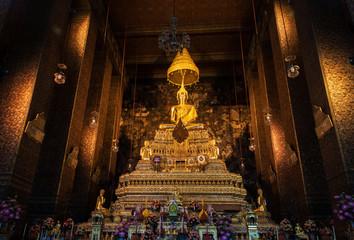 buddha statue beautiful in the church at Bangkok, Thailand