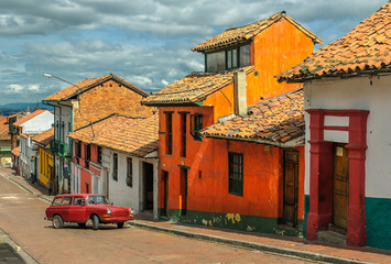 La Candelaria, historic neighborhood in downtown Bogota, Colombi