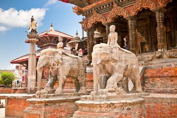 Wall Murals Nepal Temples at Durbar Sqaure in Patan, Nepal