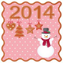 Merry Christmas greeting card design.