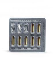 Bullets in a blister pack. Creative