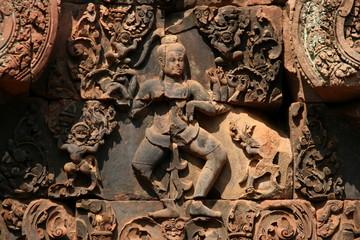 the sculptures in banteayrei,angkor wat,cambodia
