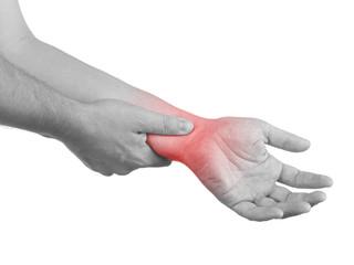 Pain in a man wrist.