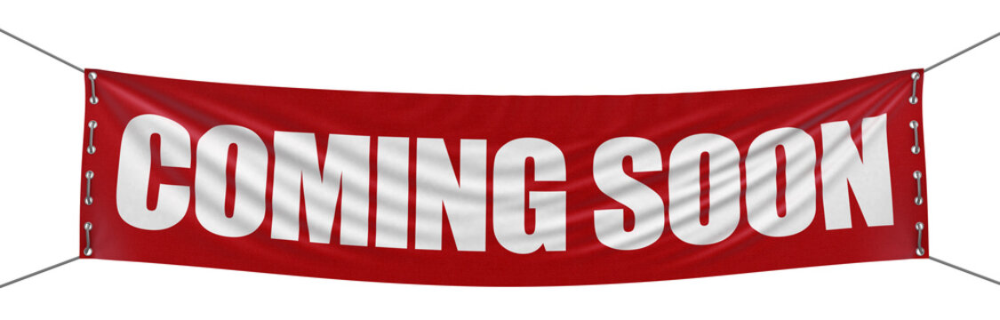 """""""Coming soon"""" banner  (clipping path included)"""
