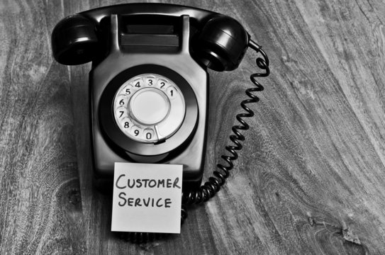 Customer service retro telephone