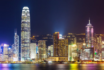 Keuken foto achterwand Hong-Kong Hong Kong city at night