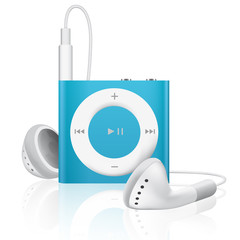 Lecteur MP3 audio bleu