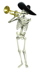 Recess Fitting Sweet Monsters 3d cartoon skeleton Mariachi