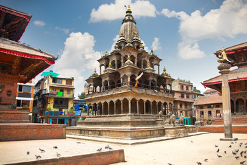 Krishna Mandir Temple, Durbar Square, Patan city. Nepal.