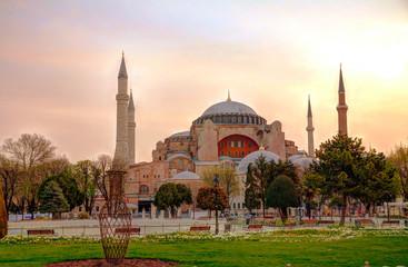 Printed kitchen splashbacks Turkey Hagia Sophia in Istanbul, Turkey