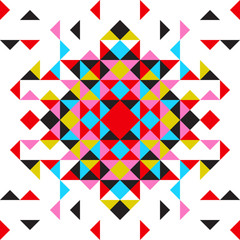 Poster ZigZag Abstract vector geometric background, triangles