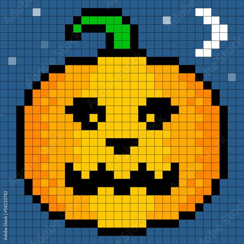 """Fabuleux 8-bit Pixel Art Halloween Pumpkin"""" fichier vectoriel libre de  JD62"""