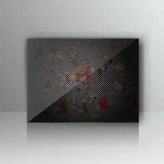 Card with abstract grunge metal background