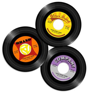 vintage 45 record label designs 2