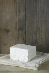 cube of fresh feta cheese