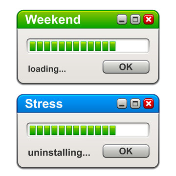vector computer windows weekend loading stress uninstalling