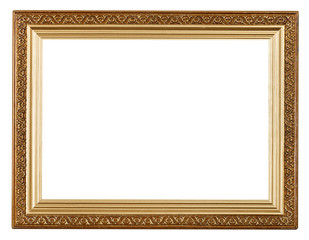 wide gold picture frame