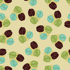 Seamless coffee wallpaper design