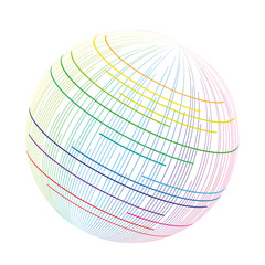 3D Logo Farbverlauf Farbspektrum Vektor