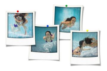 souvenirs mère fille sous l'eau