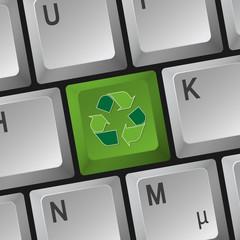"Computer Tastatur "" Recycling """