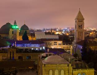 Jerusalem at night