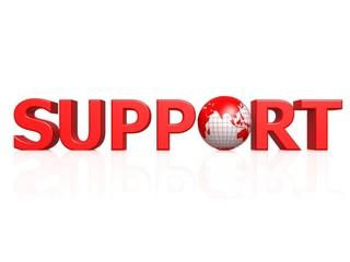 Support globe