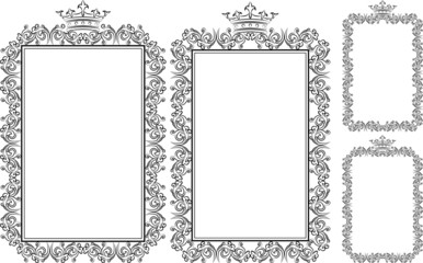 frame rectangular with crown