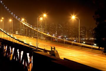 pont de bay bridge de nuit