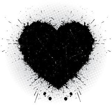 Black ink heart.
