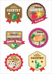 Retro labels - SET country