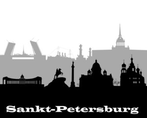 silhouette of Sankt-Petersburg