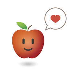 Illustration of a cute red fresh apple