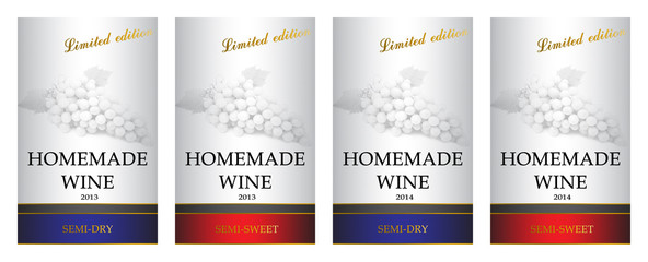 homamade wine labels