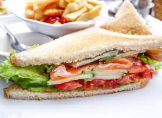 Sandwich with chicken